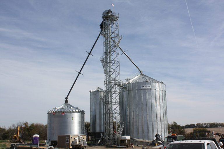 grain bin and elevator leg graham mo
